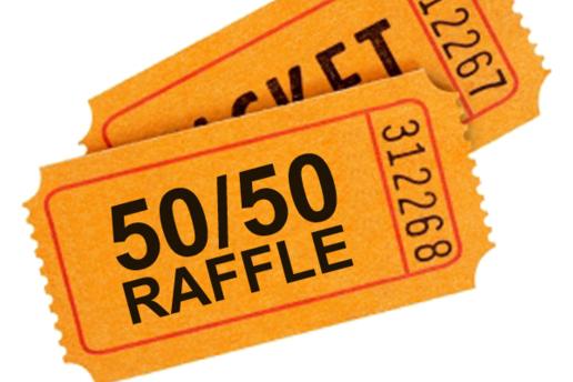 50 50 raffle sign template